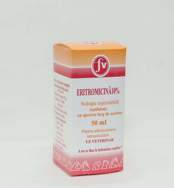 Eritromicină 10% sol.injectabilă 50ml