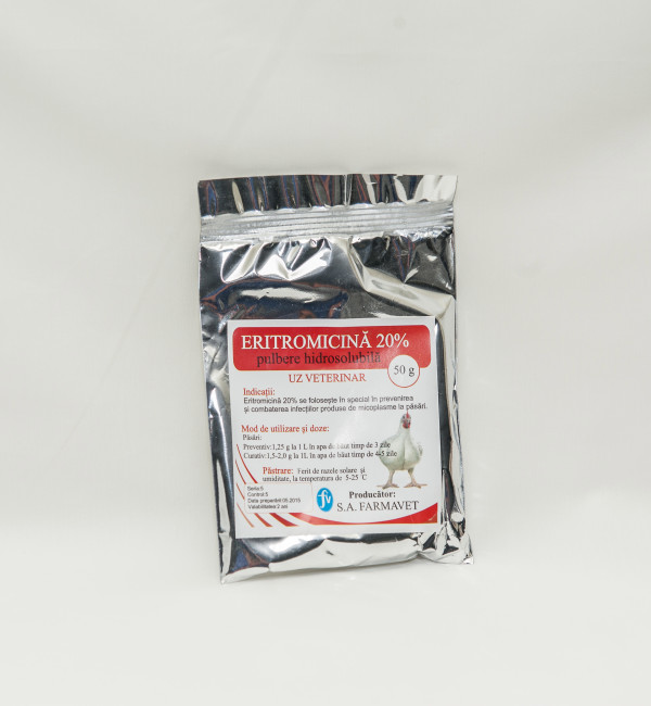 Eritromicin 20% pulbere 50gr