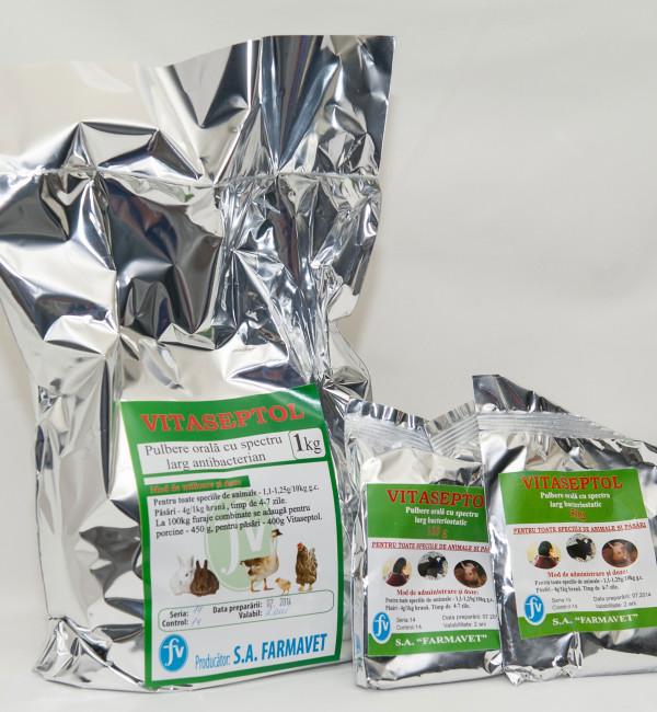 Vitaseptol pulbere  1kg 100gr 50gr